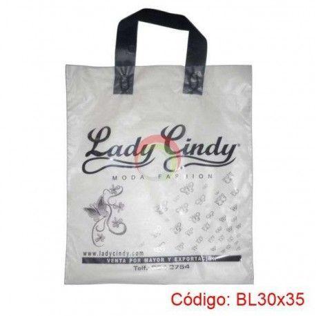 Bolsas Plasticas con asa Loop de 30x35