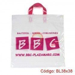 Bolsas Plásticas con Asa Loop de 38x38