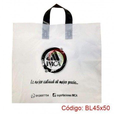 Bolsas Plasticas con asa Loop de 45x50