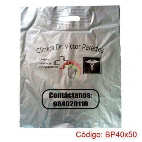Bolsas Plasticas con Asa Parche de 40x50
