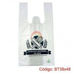 Bolsas Plásticas con Asa T-Shirt de 38x48