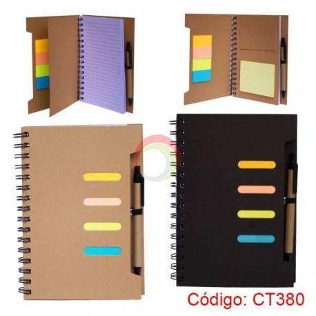 Libreta Ecologica A5 con Lapicero y Post-it