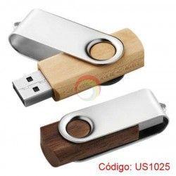 Memoria USB Giratorio de Madera 8GB