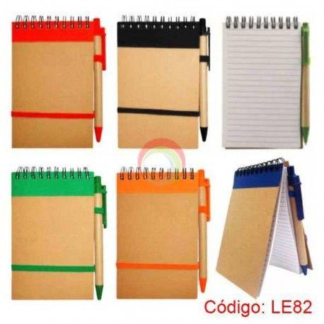 Libreta Ecologica con lapicero le82