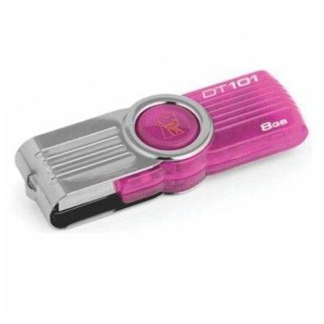 Memoria Flash USB Kingston DataTraveler 101 G2 Pink Groove, 8GB, USB 2.0, Rosado.