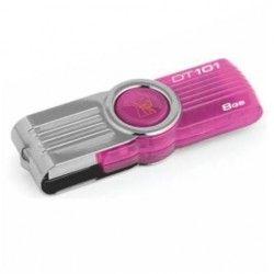 Memoria Flash USB Kingston 8GB DataTraveler 101 G2 Pink Groove, USB 2.0, Rosado.
