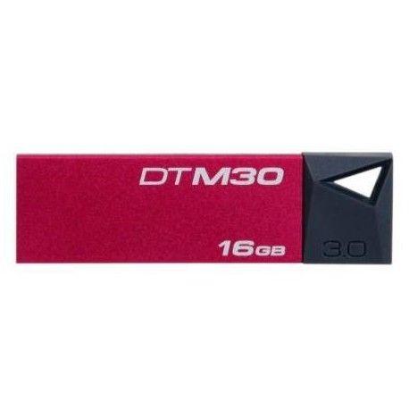 Memoria Flash USB Kingston DataTraveler Mini 3.0, 16GB, USB 3.0/2.0, Rojo.