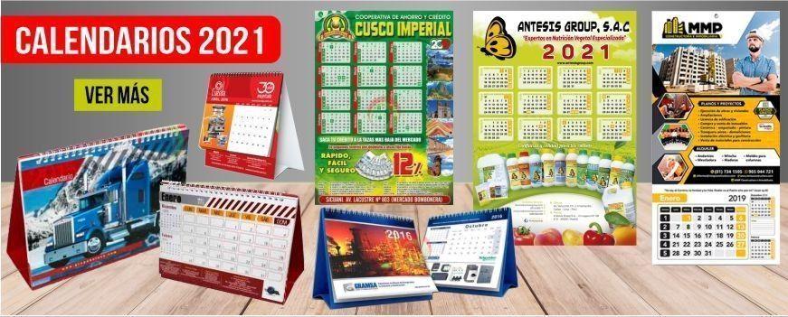 Calendarios Publicitarios en Lima Perú